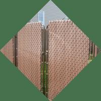 icone installation d'écran d'intimité sur clôtures en maille de fer