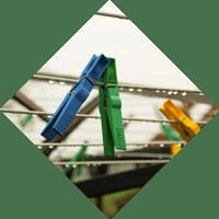 icone d'installation sur mesure de corde à linge