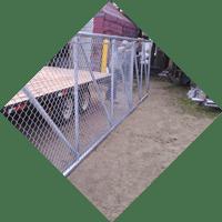 icone d'installation de barrièe en maille de fer
