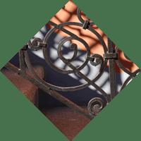 icone de rampes ornementales en acier forge et galvanise
